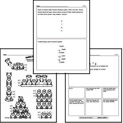 Fractions - Comparing Fractions Workbook (all teacher worksheets - large PDF)