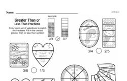 Fourth Grade Fractions Worksheets - Comparing Fractions Worksheet #5