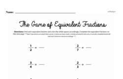 Fourth Grade Fractions Worksheets - Equivalent Fractions Worksheet #7
