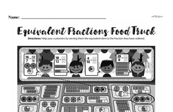 Fourth Grade Fractions Worksheets - Fractions and Equivalence Worksheet #3