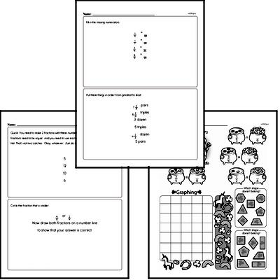 Fractions - Fractions and Equivalence Workbook (all teacher worksheets - large PDF)