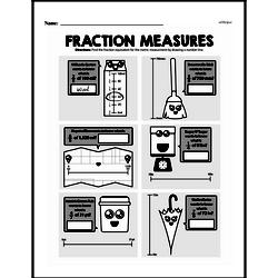 Fourth Grade Fractions Worksheets - Fractions and Metric Units Worksheet #1
