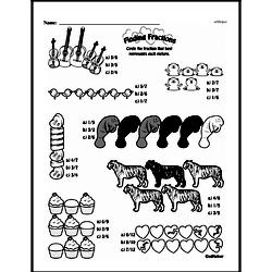 Fourth Grade Fractions Worksheets - Fractions and Parts of a Set Worksheet #1