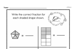 Fourth Grade Fractions Worksheets - Fractions and Parts of a Whole Worksheet #6