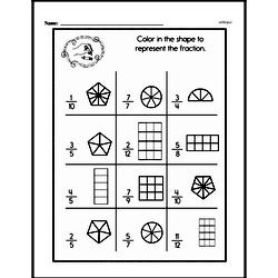 Fourth Grade Fractions Worksheets - Fractions and Parts of a Whole Worksheet #16