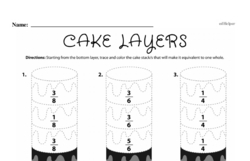 Fourth Grade Fractions Worksheets - Fractions and Parts of a Whole Worksheet #31