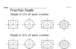 Fourth Grade Fractions Worksheets - Fractions and Parts of a Whole Worksheet #19