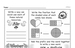 Fourth Grade Fractions Worksheets - Fractions and Parts of a Whole Worksheet #24