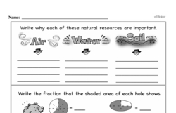 Fourth Grade Fractions Worksheets - Fractions and Parts of a Whole Worksheet #2