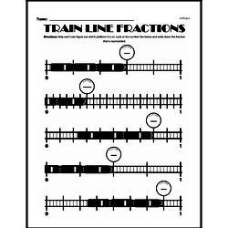 Fourth Grade Fractions Worksheets - Fractions on a Number Line Worksheet #1