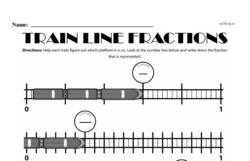 Fourth Grade Fractions Worksheets - Fractions on a Number Line Worksheet #2