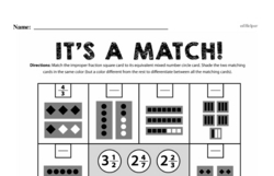 Fourth Grade Fractions Worksheets - Mixed Numbers and Improper Fractions Worksheet #2