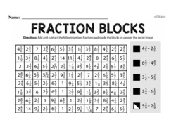 Fractions - Mixed Numbers and Improper Fractions Mixed Math PDF Workbook for Fourth Graders
