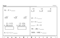Fourth Grade Fractions Worksheets - Subtracting Fractions Worksheet #1