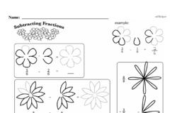 Fourth Grade Fractions Worksheets - Subtracting Fractions Worksheet #4