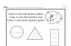 Free Fraction PDF Math Worksheets Worksheet #9