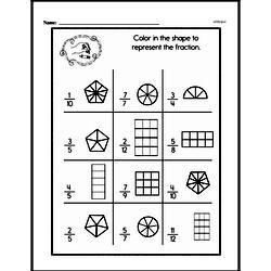 Fourth Grade Fractions Worksheets Worksheet #34