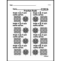 Free Fraction PDF Math Worksheets Worksheet #181