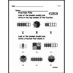 Free Fraction PDF Math Worksheets Worksheet #85