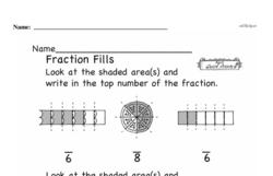 Fraction Worksheets - Free Printable Math PDFs Worksheet #9