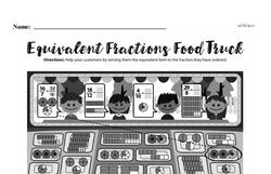 Fraction Worksheets - Free Printable Math PDFs Worksheet #42