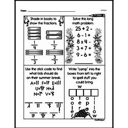 Free Fraction PDF Math Worksheets Worksheet #6