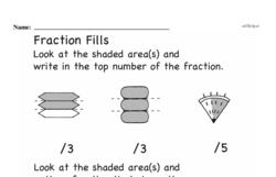 Free Fraction PDF Math Worksheets Worksheet #76