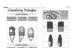 Free Fraction PDF Math Worksheets Worksheet #87