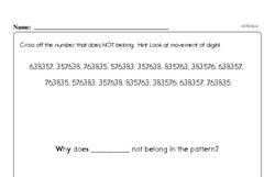 Free Fraction PDF Math Worksheets Worksheet #124