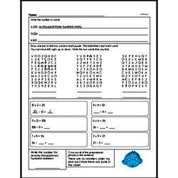 Free Fraction PDF Math Worksheets Worksheet #178