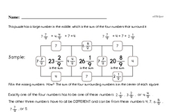 Free Fraction PDF Math Worksheets Worksheet #42