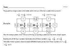 Free Fraction PDF Math Worksheets Worksheet #16