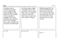 Free Fraction PDF Math Worksheets Worksheet #87