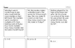 Free Fraction PDF Math Worksheets Worksheet #222