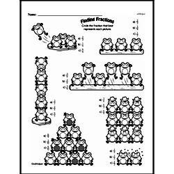 Free Fraction PDF Math Worksheets Worksheet #152