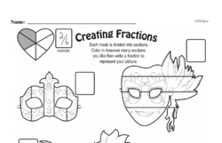 Free Fraction PDF Math Worksheets Worksheet #56