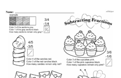 Free Fraction PDF Math Worksheets Worksheet #106