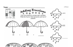 Free Fraction PDF Math Worksheets Worksheet #132