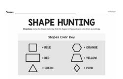 Fourth Grade Geometry Worksheets - 2D Shapes Worksheet #25