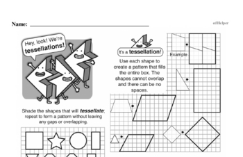 Geometry - 2D Shapes Mixed Math PDF Workbook for Fourth Graders