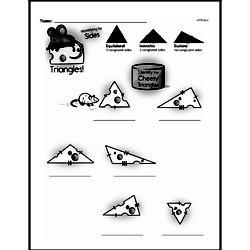 Fourth Grade Geometry Worksheets - 2D Shapes Worksheet #27