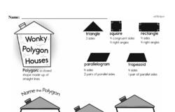 Fourth Grade Geometry Worksheets - 2D Shapes Worksheet #28