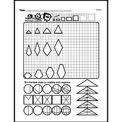 Fourth Grade Geometry Worksheets - 2D Shapes Worksheet #24