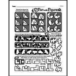 Fourth Grade Geometry Worksheets - 2D Shapes Worksheet #1