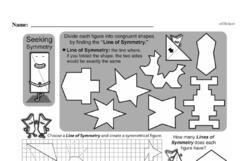 Fourth Grade Geometry Worksheets - 2D Shapes Worksheet #7