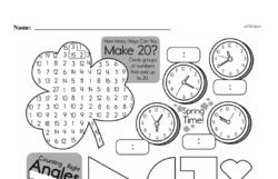 Fourth Grade Geometry Worksheets - 2D Shapes Worksheet #4