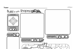 Fourth Grade Geometry Worksheets - 2D Shapes Worksheet #18