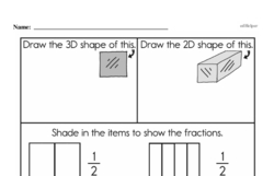 Fourth Grade Geometry Worksheets - 3D Shapes Worksheet #7