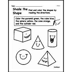 Fourth Grade Geometry Worksheets - 3D Shapes Worksheet #1