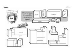 Fourth Grade Geometry Worksheets - 3D Shapes Worksheet #2